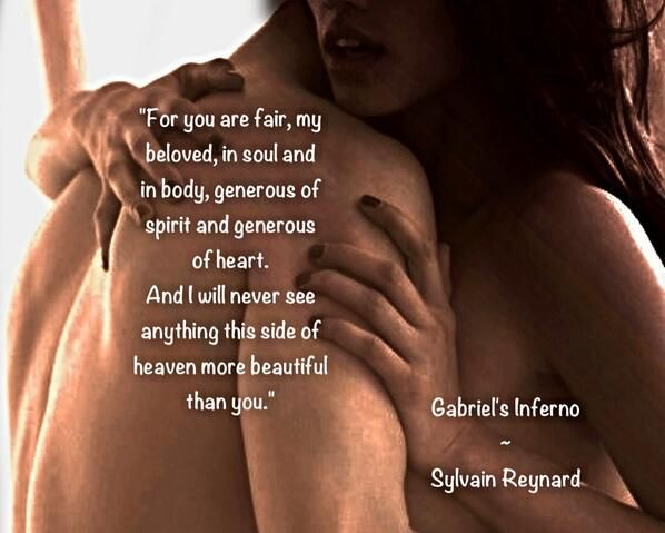 """@SRFansUK   """"For you are fair, my beloved, in soul and in body …"""" #GabrielsInferno by @Sylvain Reynard pic.twitter.com/qM1kGdSCPY"""