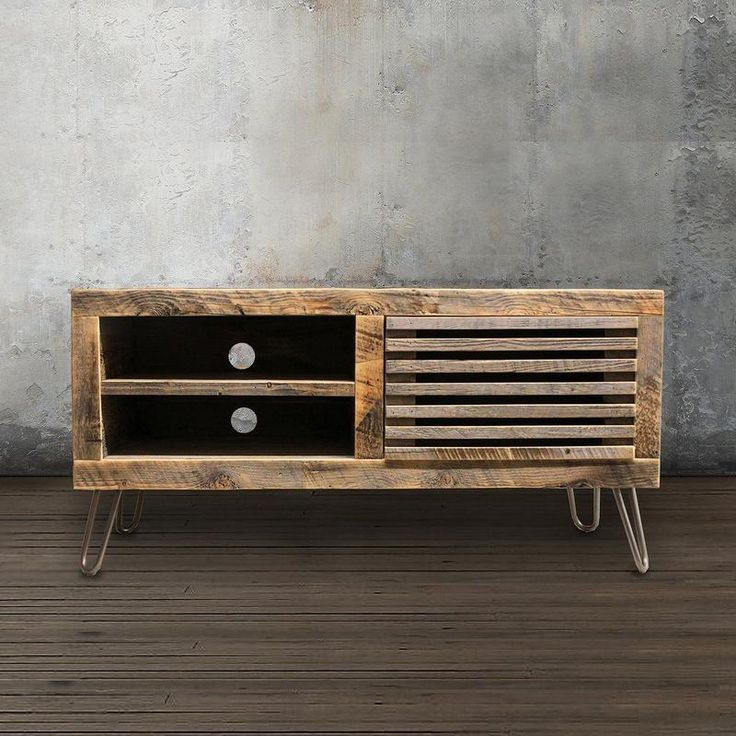 "Reclaimed Wood Media Console 56""- Free Shipping - JW Atlas Wood Co."