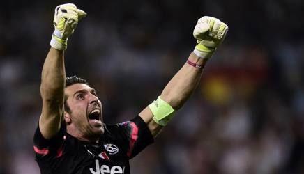 L'esultanza di Gigi Buffon. Afp