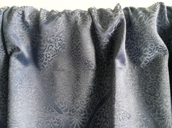 Indigo Boho curtain panels, Blackout curtains, Window curtain, Blue Silk curtain, Bohemian Door curtains Kitchen curtain 84 96 108 120 inch