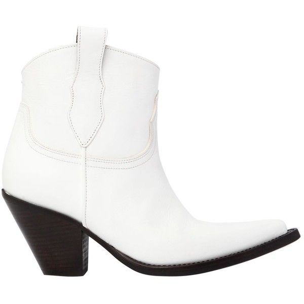 3b10a85acc5 Maison Margiela Women 80mm Leather Ankle Cowboy Boots ($1,285 ...