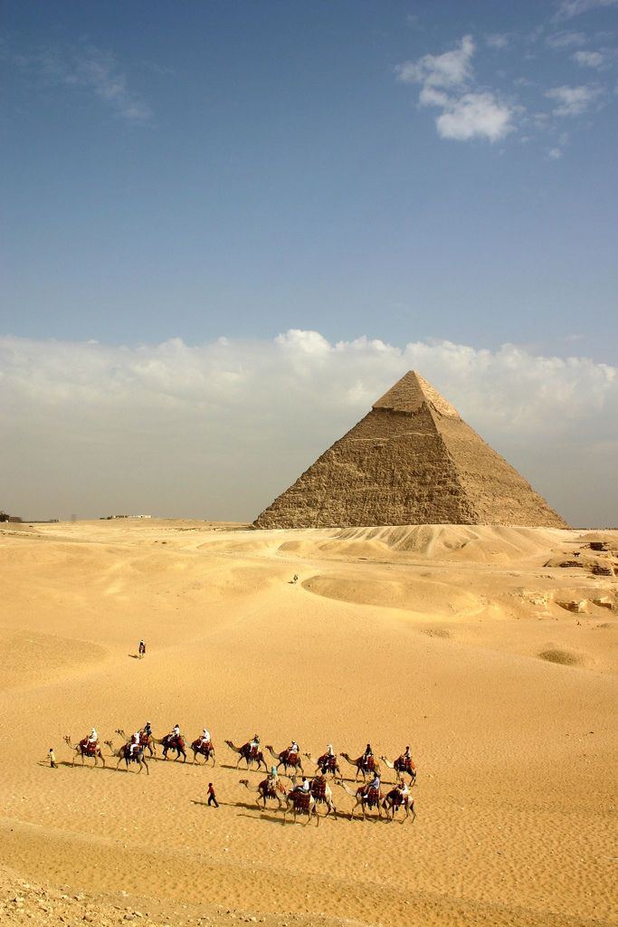 Pyramids In Giza, Egypt