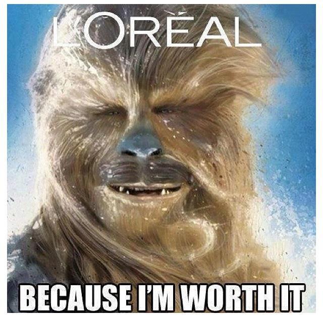 Chewbacca L'Oreal ad