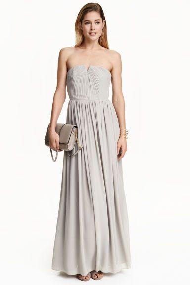 Плиссированное платье макси | H&M
