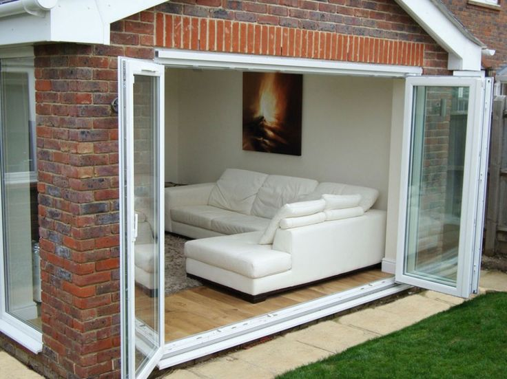 Exterior Why You Should Have Bifold Exterior Doors Modern White