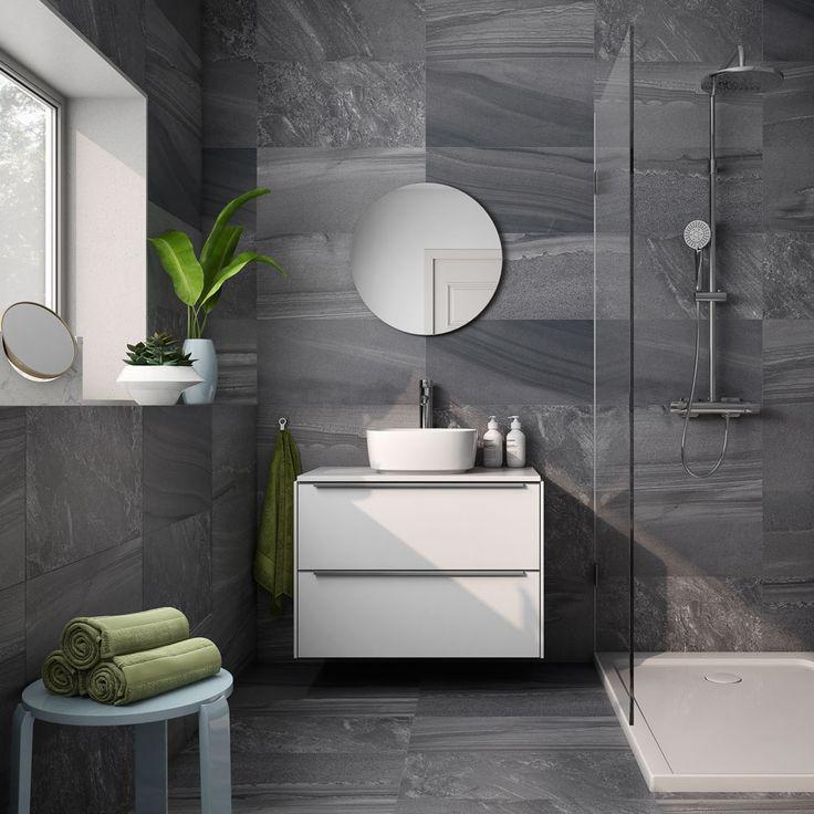 lakeland grey in 2020  slate flooring round mirror