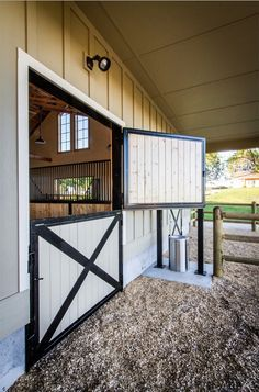 Dream horse barn idea   The dutch doors are a beautiful touch to this barn.