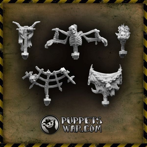 If you field an undead army or simply want to strike fear into hearts of enemy, Cursed Banners will be a great addition to your force. https://puppetswar.eu/product.php?id_product=579
