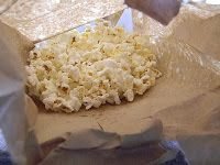 Make your own Micowave Popcorn 1/4 cup Popcorn seeds 1 TBSP oil 1/2 tsp salt lunch size paper bag Mix your seeds with oil and salt, Place them in the bottom of the paper bag. Fold over the bag twice and set it in your microwave. You don't need to lay it down (you can if you want), I just squish it a little to make it fit. Set it for 2-3 minutes and let the popping start! Make sure you stay near, once you hear the popping slow or stop for a sec or two, it's time to take it out before it…