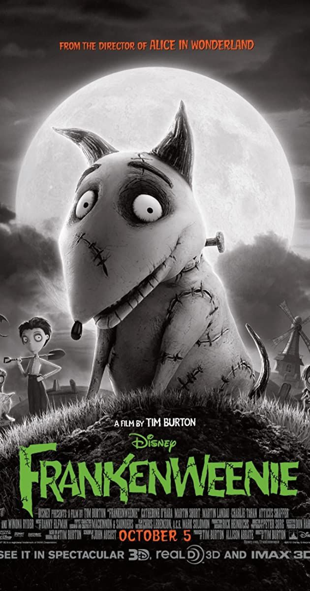 Frankenweenie 2012 Imdb In 2020 Halloween Movie Night Tim Burton Horror Movie Characters