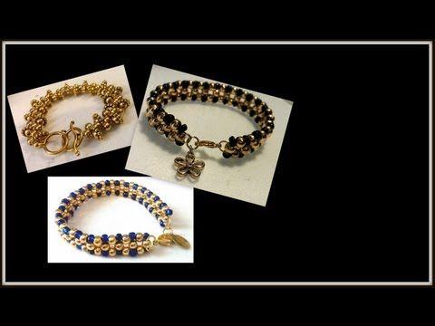 Dressy Diamonds Bracelet Tutorial - YouTube