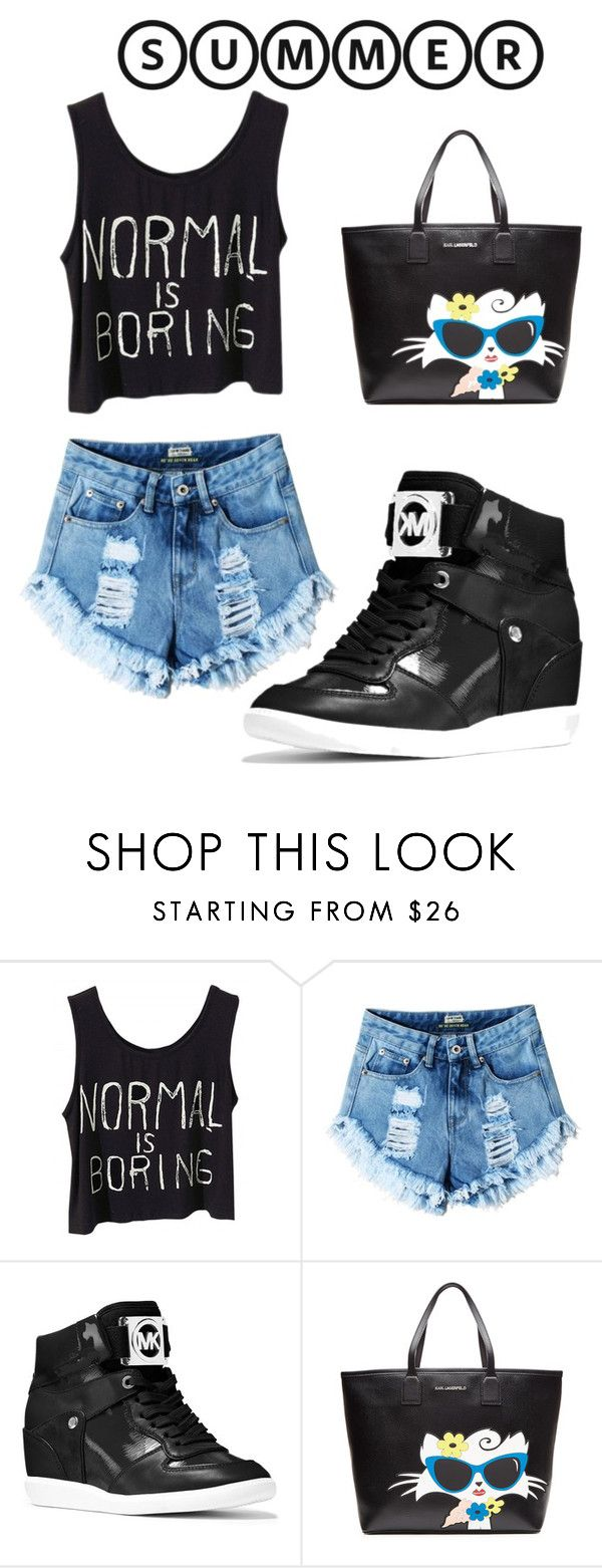 """Summer.. "" by crazystupidgirl ❤ liked on Polyvore featuring MICHAEL Michael Kors and Karl Lagerfeld"