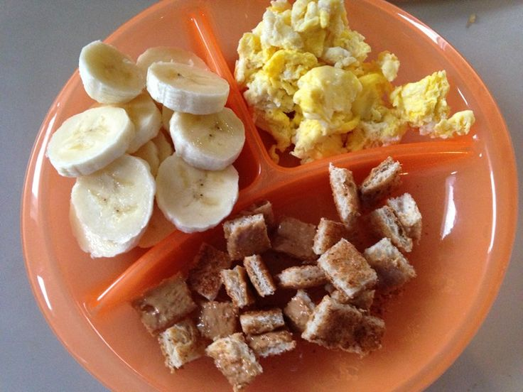 Toast with Peanut Butter, Eggs, Banana