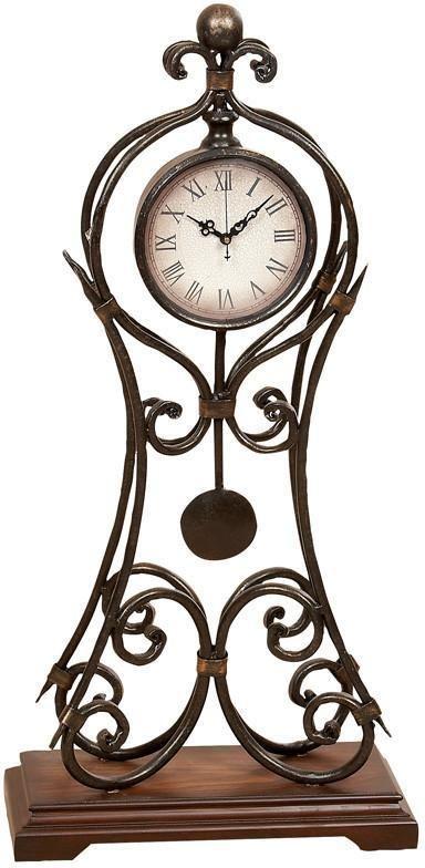 "Bayden Hill Metal Clock 24""H, 11""W"