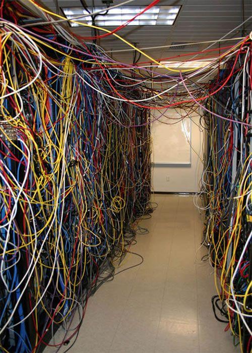 Gazebo Wiring Server Room Style  Wires Instead Of Vines