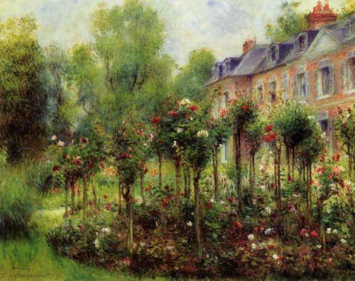 Il Giardino delle Rose a Wargemont - Pierre-Auguste Renoir - 1879