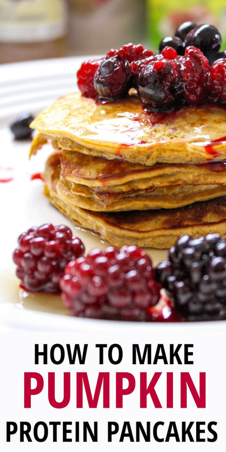These pumpkin protein pancakes are the perfect fall treat to not only satisfy your desire for a warm, delicious breakfast but also to provide a boost of protein to power you through your morning.