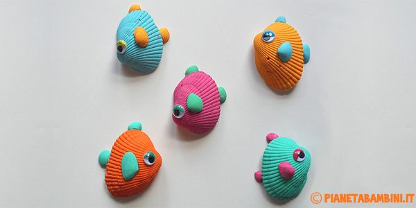 Lavoretti Estivi Pesci Conchiglie