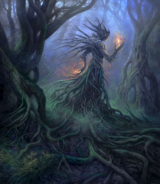 God of the Forest by yonaz dryad treant monster beast creature animal | Create your own roleplaying game material w/ RPG Bard: www.rpgbard.com | Writing inspiration for Dungeons and Dragons DND D&D Pathfinder PFRPG Warhammer 40k Star Wars Shadowrun Call of Cthulhu Lord of the Rings LoTR + d20 fantasy science fiction scifi horror design | Not Trusty Sword art: click artwork for source