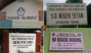 Bokong Dan Pocong, 7 Nama Sekolah Dasar Paling Aneh di Indonesia