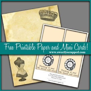 free printable paper and mini cards by sweetly scrappedFree Downloadsprint, Crafts Ideas, Printables Paper, Minis Dog Qu, Minis Cards, Digital Freebies, Sweets Scrap, Paper Crafts, Free Printables