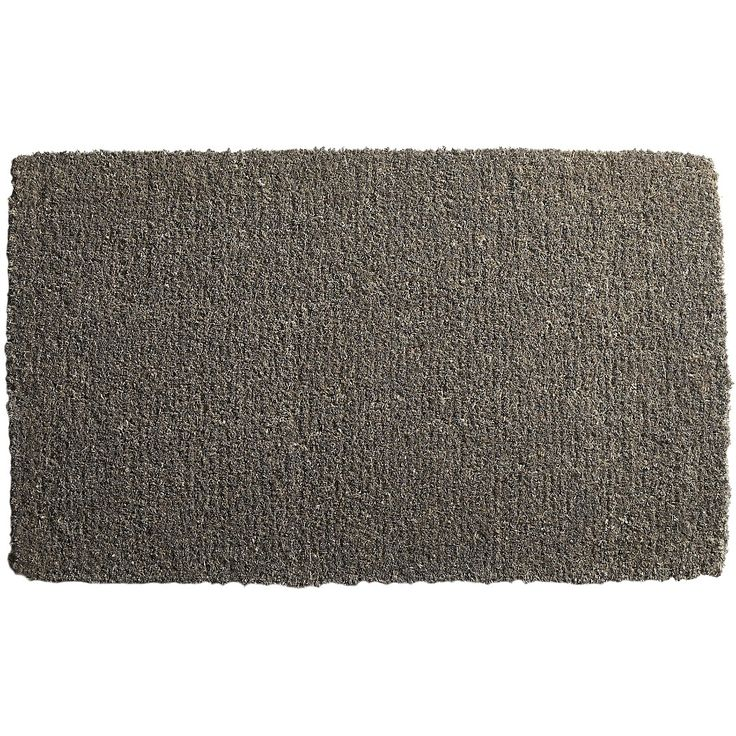 Shop Slater Jute Doormat. Made of natural coir, deep grey door mat is a natural spot to welcome guests. Fibers are gathered, dyed then woven on a powerloom.