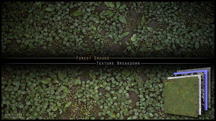 ArtStation - Forest Ground Texture Breakdown, Ben Wilson