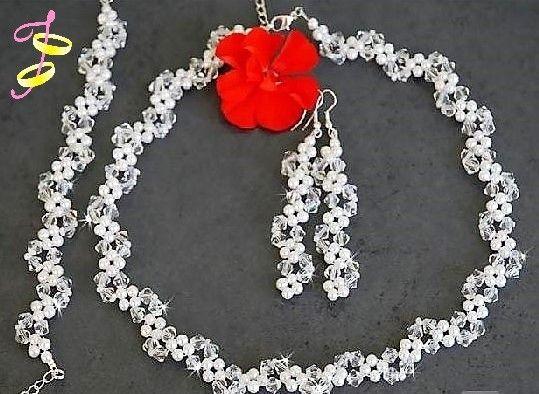Bruids sieraden kristal-parels