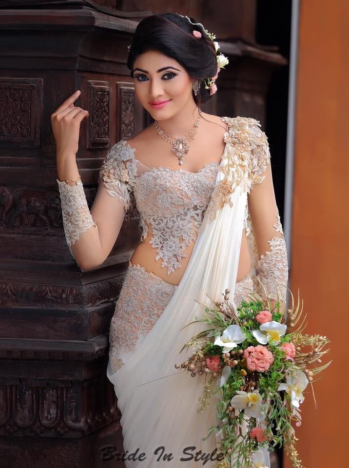 Sri lankan bride designer wear outfits bridal for Wedding party dresses in sri lanka