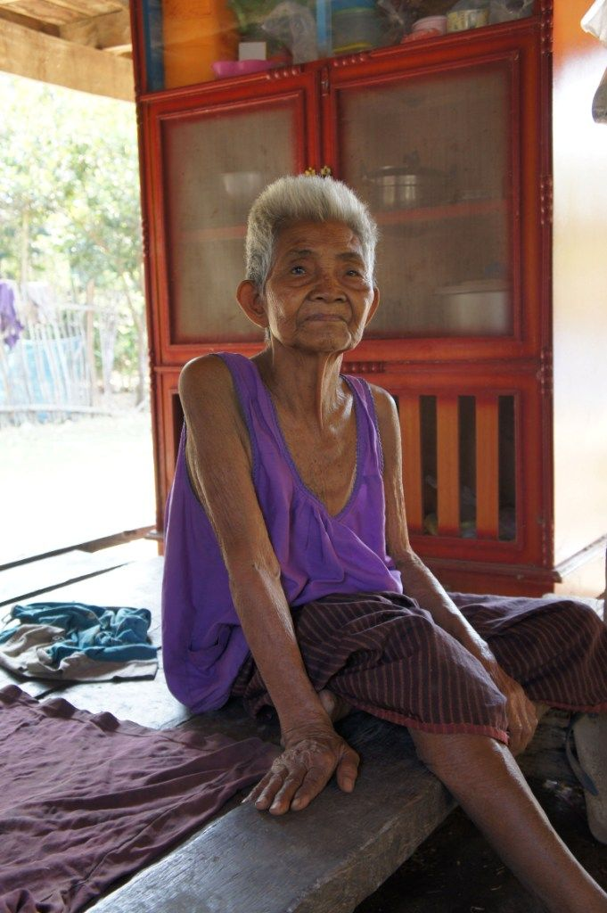 A portrait of Yai, the grandmother of one of my Muay Thai trainers in Lamplaimat, Buriram, Thailand.