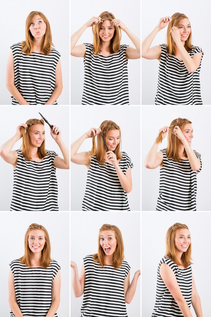 3 easy ways to braid your bangs