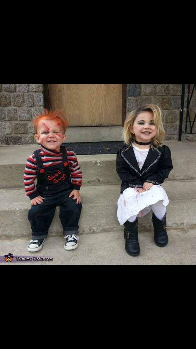 Chucky & Tiffany Kid Costume | Halloween | Pinterest ...
