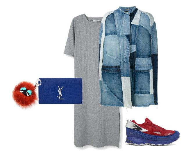 """""""Rainy Seoul"""" by aayeshaofficial on Polyvore featuring MANGO, Yves Saint Laurent and Fendi"""