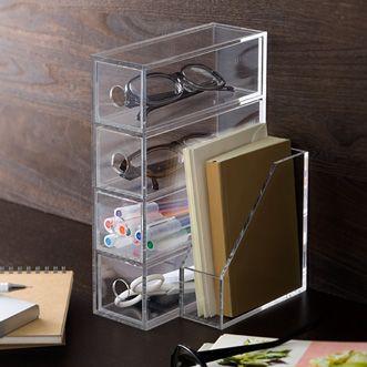 Brillenbox mit 4 Fächern von muji