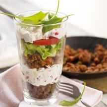 Schichtsalat mit Tatar