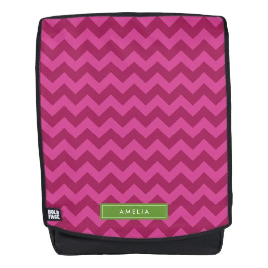Personalize with Name Trendy Purple Chevron Backpack by Rosewood and Citrus on Zazzle