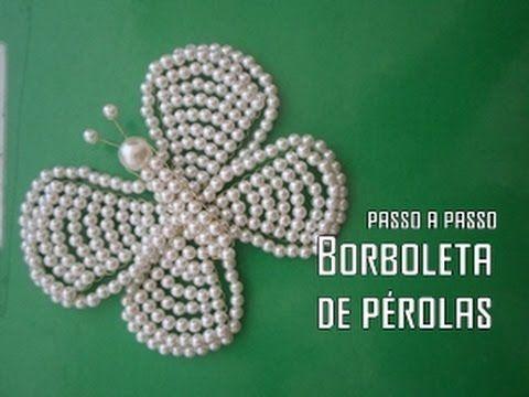 NM Bijoux - Borboleta de Pérolas - passo a passo - YouTube