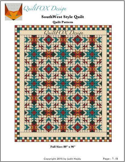 Southwest Quilt Pattern Southwest quilt Nativ by QuiltPatterns
