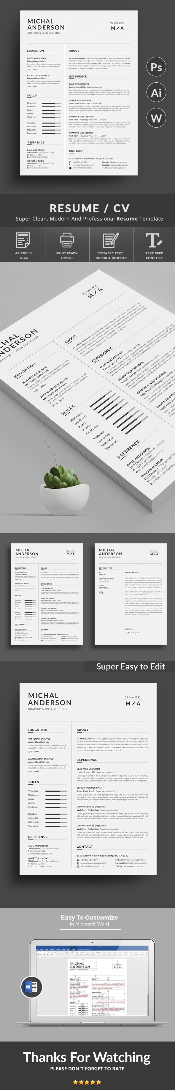 """This is Resume Templates . """"Resume Templates"""" is the super clean,The flexible page designs are easy to use and customise, modern and professional Resume templates to help you land that great job, you a need a great resume. The professionally-written resume examples below can help give you the inspiration you need to build an impressive resume of your own that impresses hiring managers and helps you land the job."""