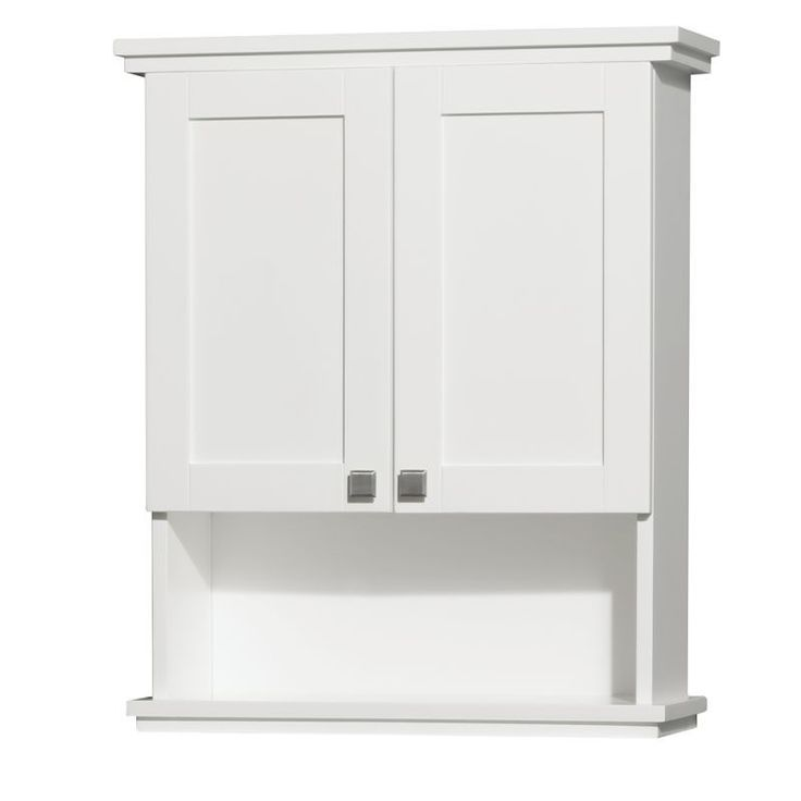 "Wyndham Collection WCCG8000WC 25"" Wall Mounted Bathroom Cabinet from the Acclaim White Bathroom Cabinets Wall Cabinets Wood"