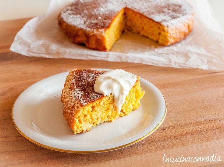 #torta alle #carote con #crema allo #yogurt e #zenzero