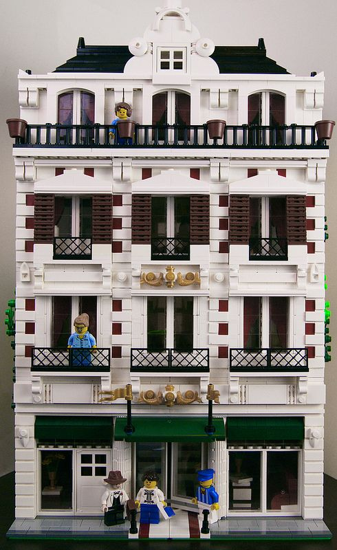 Balconies where people can be placed. Great details.