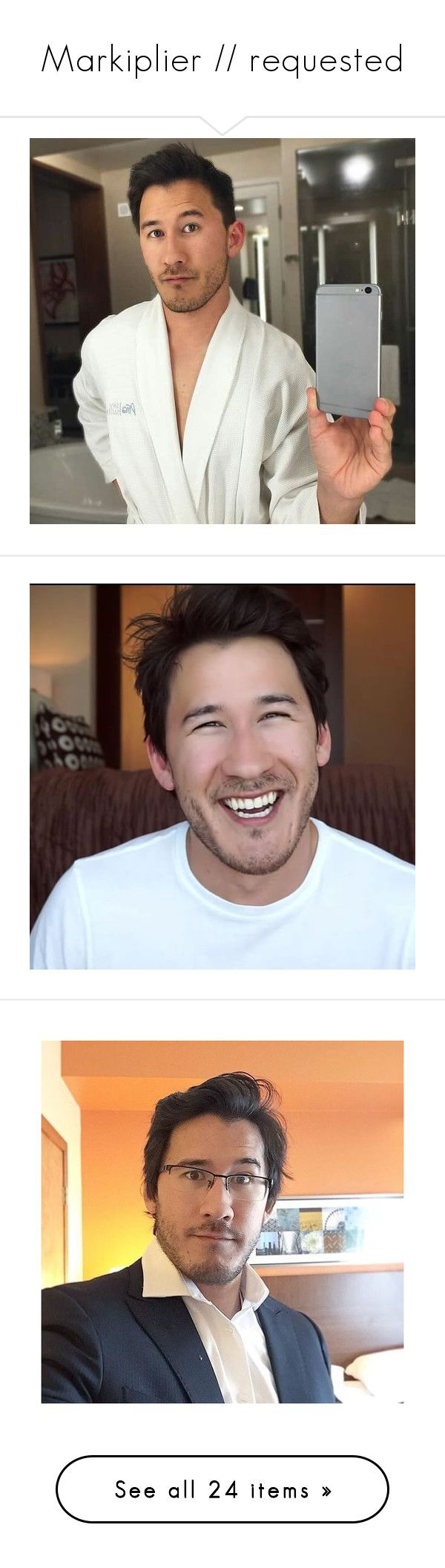 """""""Markiplier // requested"""" by waliflower ❤ liked on Polyvore featuring markiplier, youtubers, boys, youtube and septiplier"""