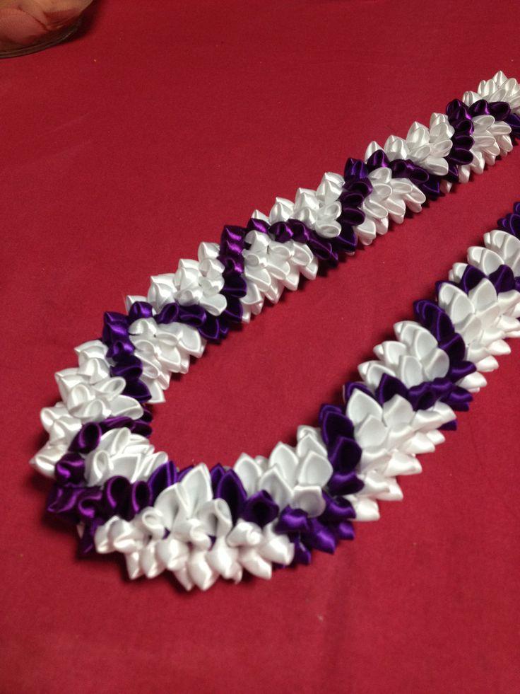 Diamond (Ribbon lei) designed by Tracy Harada Ui'mauamau