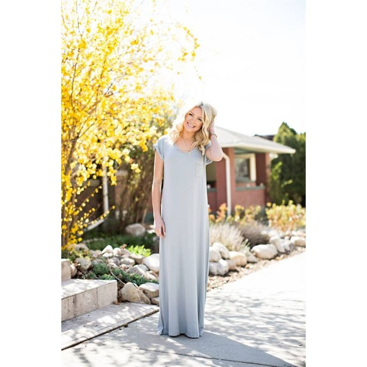 Loose Fit Maxi Dress- Gray