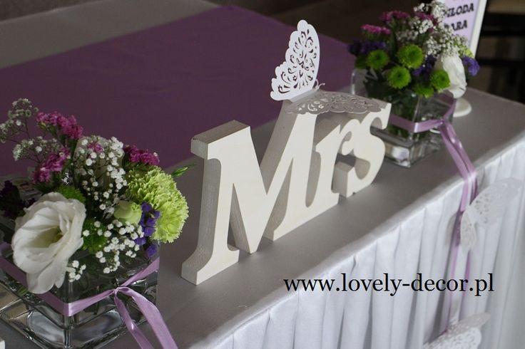 Dekoracje ślubne - stół #wedding #decoration #ślub