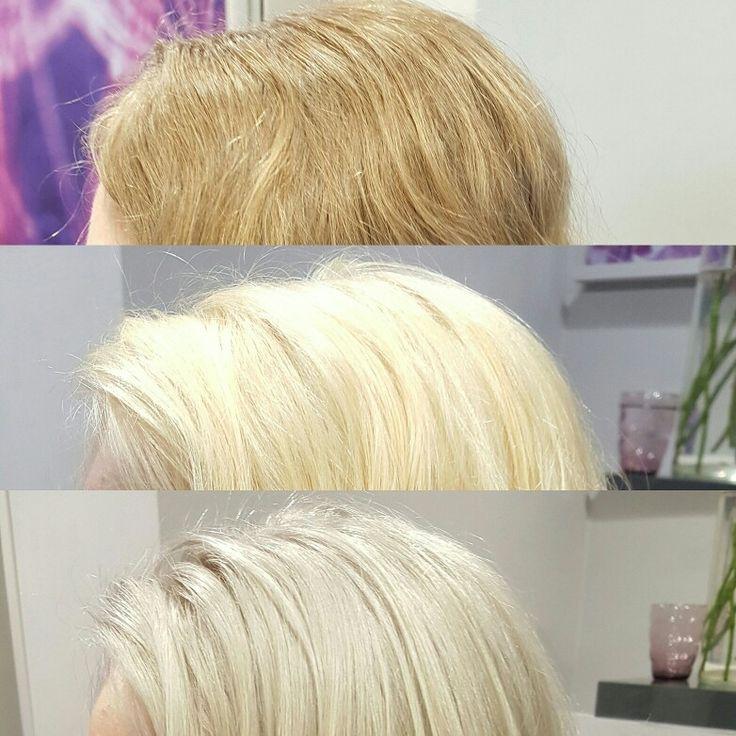 Glossing fur blonde haare
