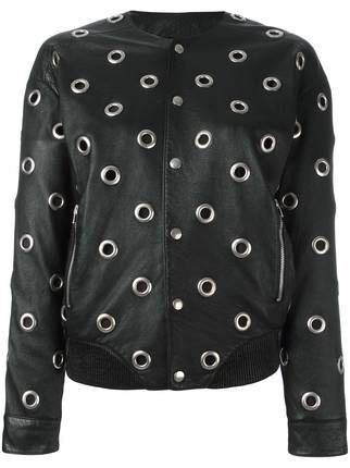 Saint Laurent куртка с люверсами