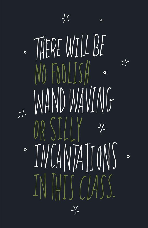 Harry Potter Professor Snape Quote Print / Poster / Halloween Poster / Wall Decor