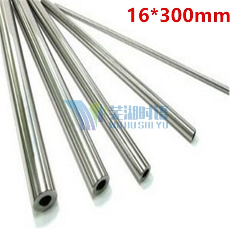 23.00$  Buy now - http://ali4t7.shopchina.info/go.php?t=32804450501 - 2pcs/lot 16mm round linear rail(hollow version)  16*300mm ID10mm cnc parts round chrome harden rod  #magazineonlinebeautiful
